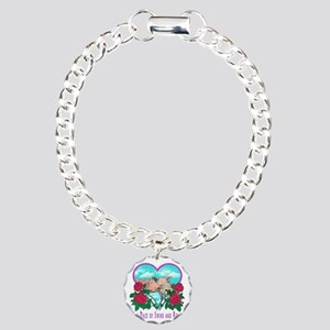 SWINE AND ROSES T  2 Lg Charm Bracelet, One Charm