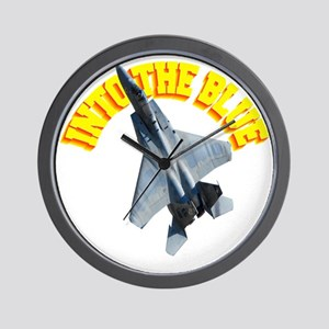 CP-T dark F15 INTO THE BLUE Wall Clock