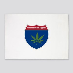 Cannabis Leaf 5'x7'Area Rug