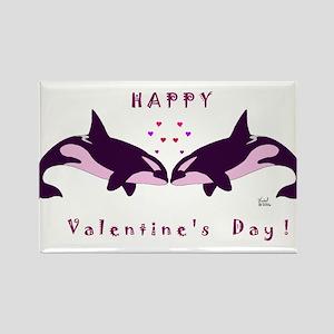 Killer Whale Valentine Rectangle Magnet