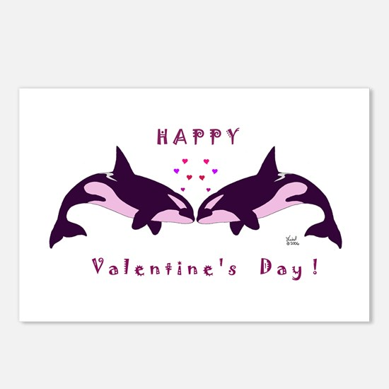 Killer Whale Valentine Postcards (Package of 8)