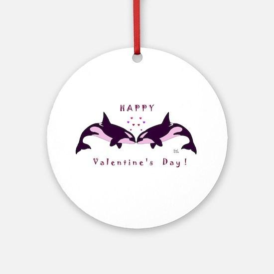 Killer Whale Valentine Ornament (Round)