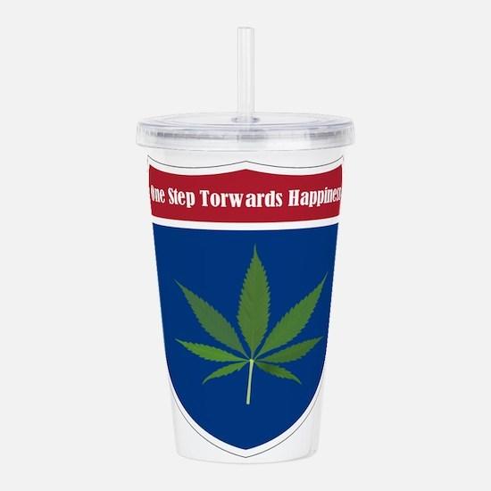 Cannabis Leaf Acrylic Double-wall Tumbler