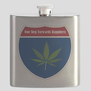 Cannabis Leaf Flask