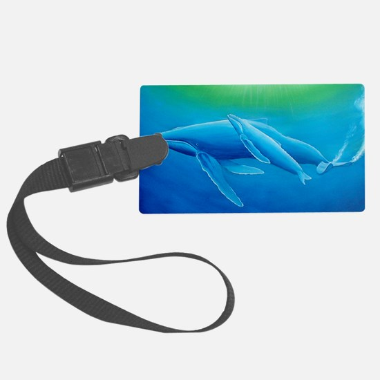 2-Mother and daughter whale post Luggage Tag