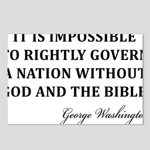 Washington_God-and-Bible- Postcards (Package of 8)