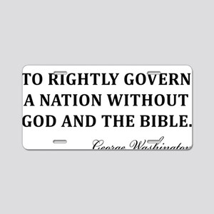 Washington_God-and-Bible-(w Aluminum License Plate