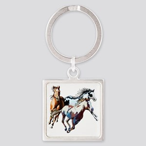 Raceday Square Keychain