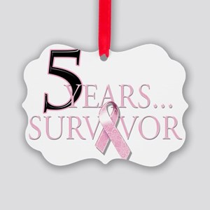 5 Years Breast Cancer Survivor Picture Ornament