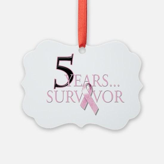 5 Years Breast Cancer Survivor Ornament