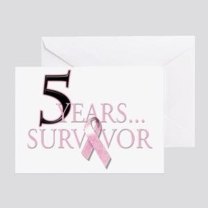 5 Years Breast Cancer Survivor Greeting Card