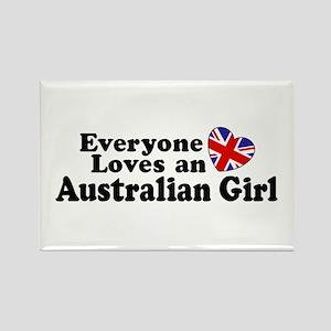 Everyone Loves an Australian Girl Rectangle Magnet