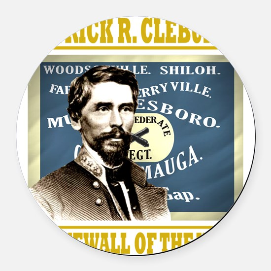 Cleburne -stonewall of the west Round Car Magnet