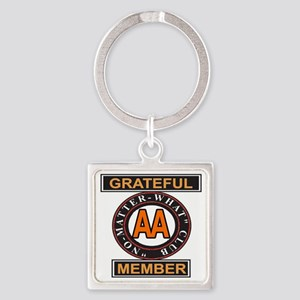 GRATEFUL MEMBER AA Square Keychain