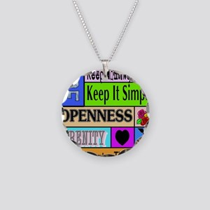 12 step sayings Necklace Circle Charm