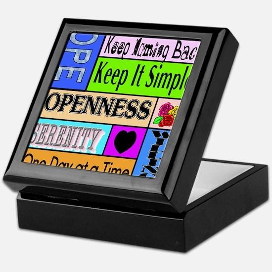 12 step sayings Keepsake Box
