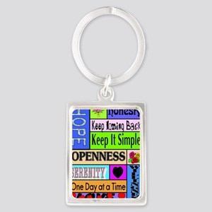 12 step sayings Portrait Keychain