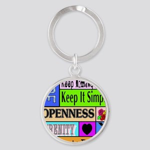 12 step sayings Round Keychain