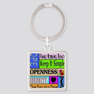 12 step sayings Square Keychain