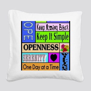 12 step sayings Square Canvas Pillow