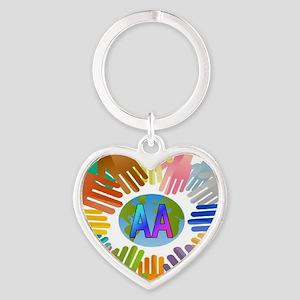 2-AA HANDS Heart Keychain