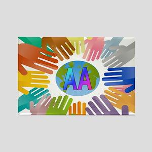 2-AA HANDS Rectangle Magnet