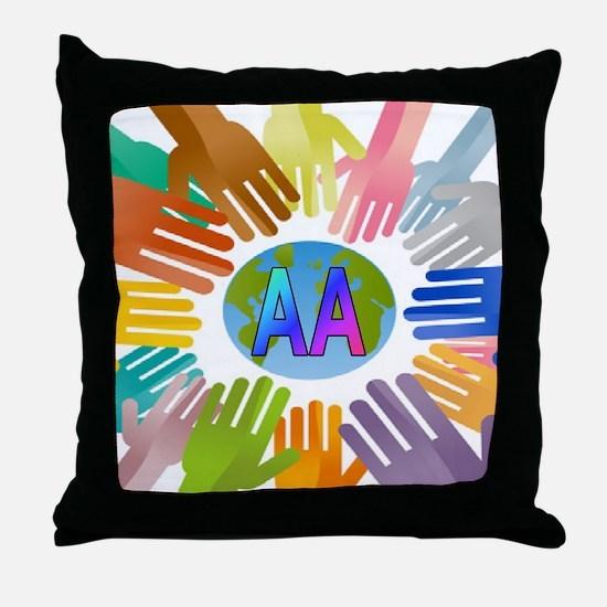 2-AA HANDS Throw Pillow