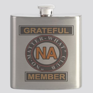 NA GRATEFUL MEMBER Flask