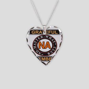 NA GRATEFUL MEMBER Necklace Heart Charm