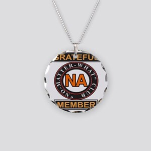 NA GRATEFUL MEMBER Necklace Circle Charm