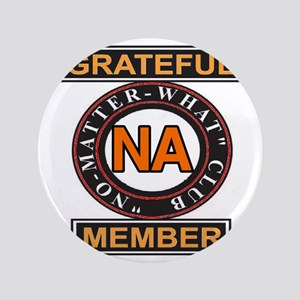 "NA GRATEFUL MEMBER 3.5"" Button"
