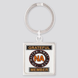 NA GRATEFUL MEMBER Square Keychain