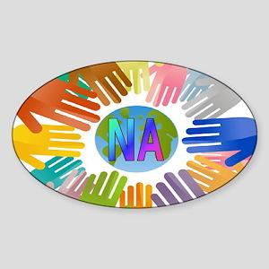 NA HANDS Sticker (Oval)