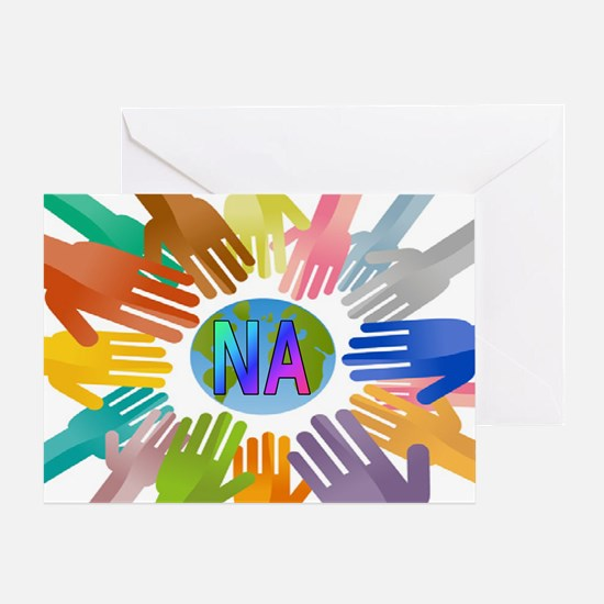 NA HANDS Greeting Card