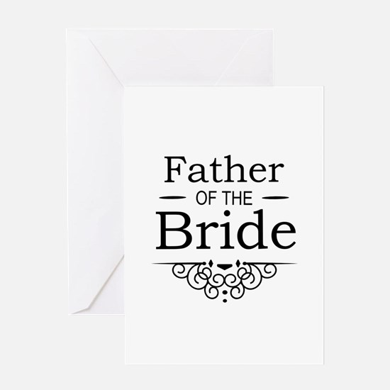 Father of the Bride black Greeting Cards
