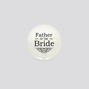 Father of the Bride black Mini Button