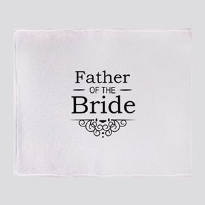 Father of the Bride black Throw Blanket