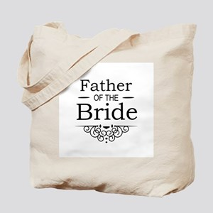 Father of the Bride black Tote Bag