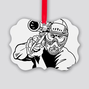Paintball4 Picture Ornament