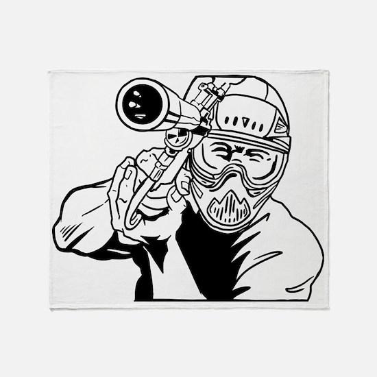 Paintball4 Throw Blanket