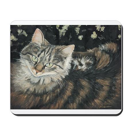 Mousepad w tabby cat