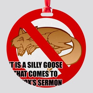 fox-snooze-faux-news3 Round Ornament