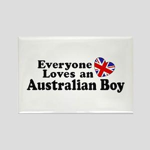 Everyone Loves an Australian Boy Rectangle Magnet