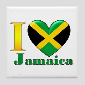 I love Jamaica Tile Coaster