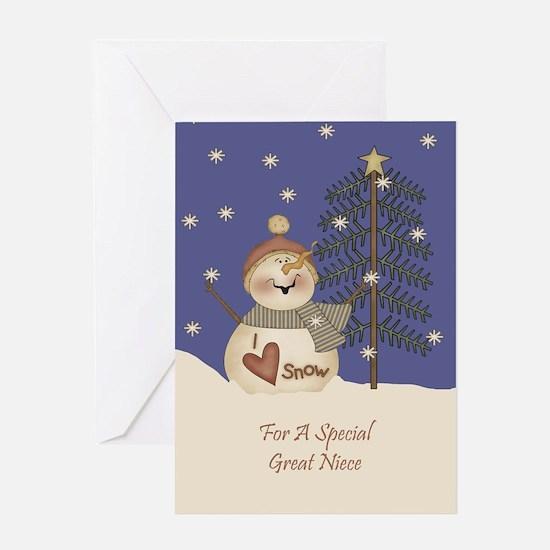 Great Niece Christmas Card Greeting Card