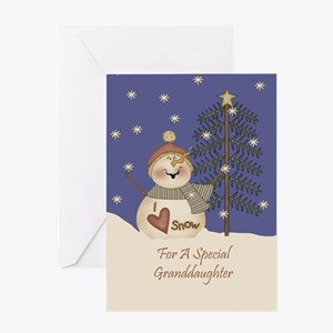 Granddaughter Christmas Card Greeting Card