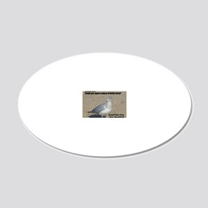 seagull_kettle_lg 20x12 Oval Wall Decal