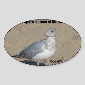 seagull_kettle_lg Sticker (Oval)
