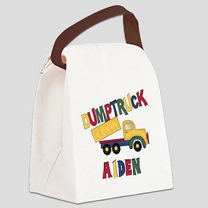 AIDENDUMPTRUCK Canvas Lunch Bag