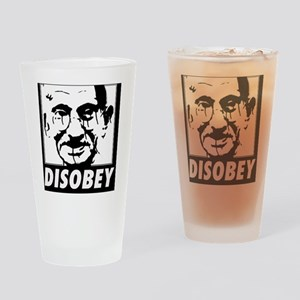 Ghandi Disobey Drinking Glass